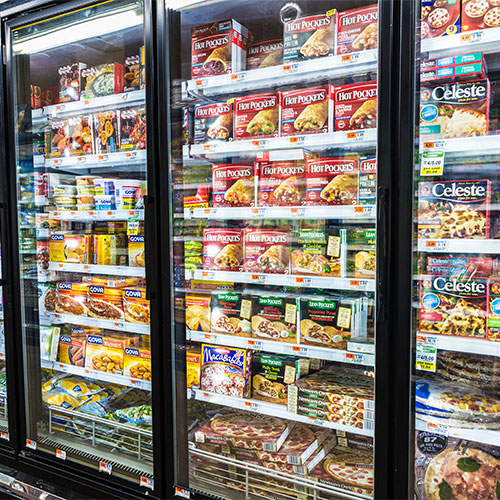 frozen food grocery store aisle
