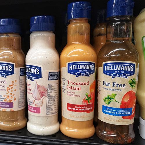 salad dressing bottles