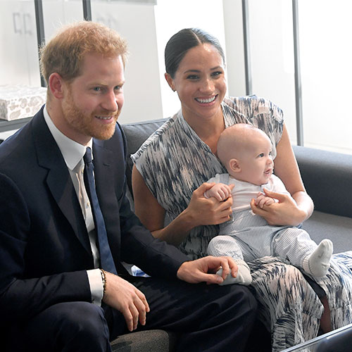 Prince Harry and Meghan Markle with thier son Archie
