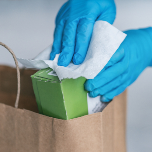 disinfecting packages