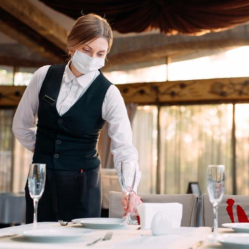 waitress with mask