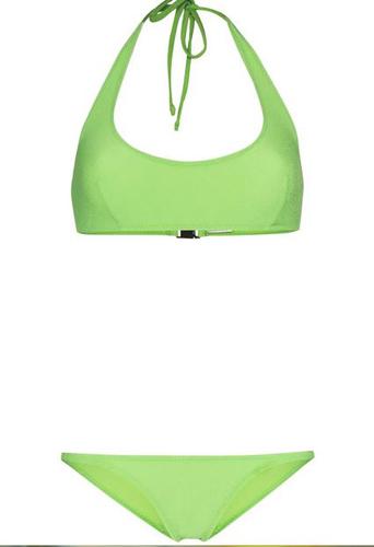 Amber Crêpe Halter Bikini