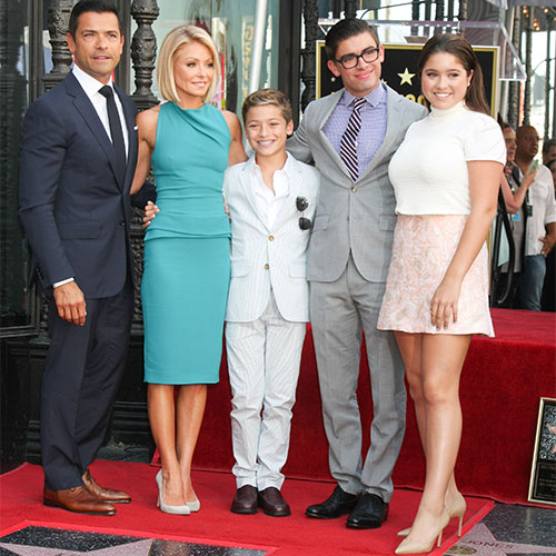 Kelly Ripa, Mark Consuelos, and children