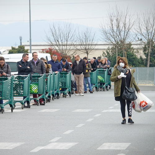 grocery line
