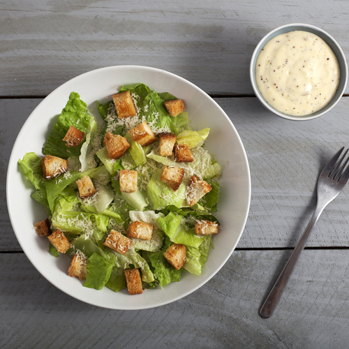 caesar salad and dressing