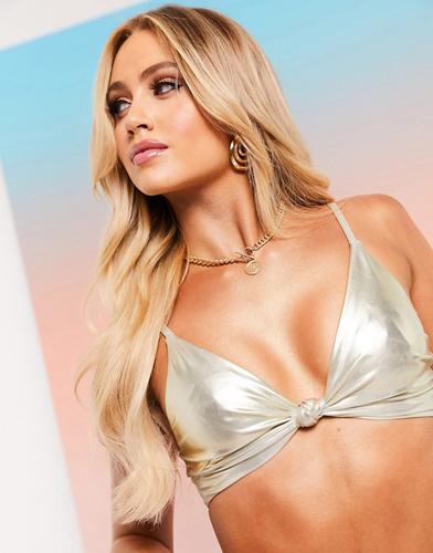Glam Knot Bikini Top