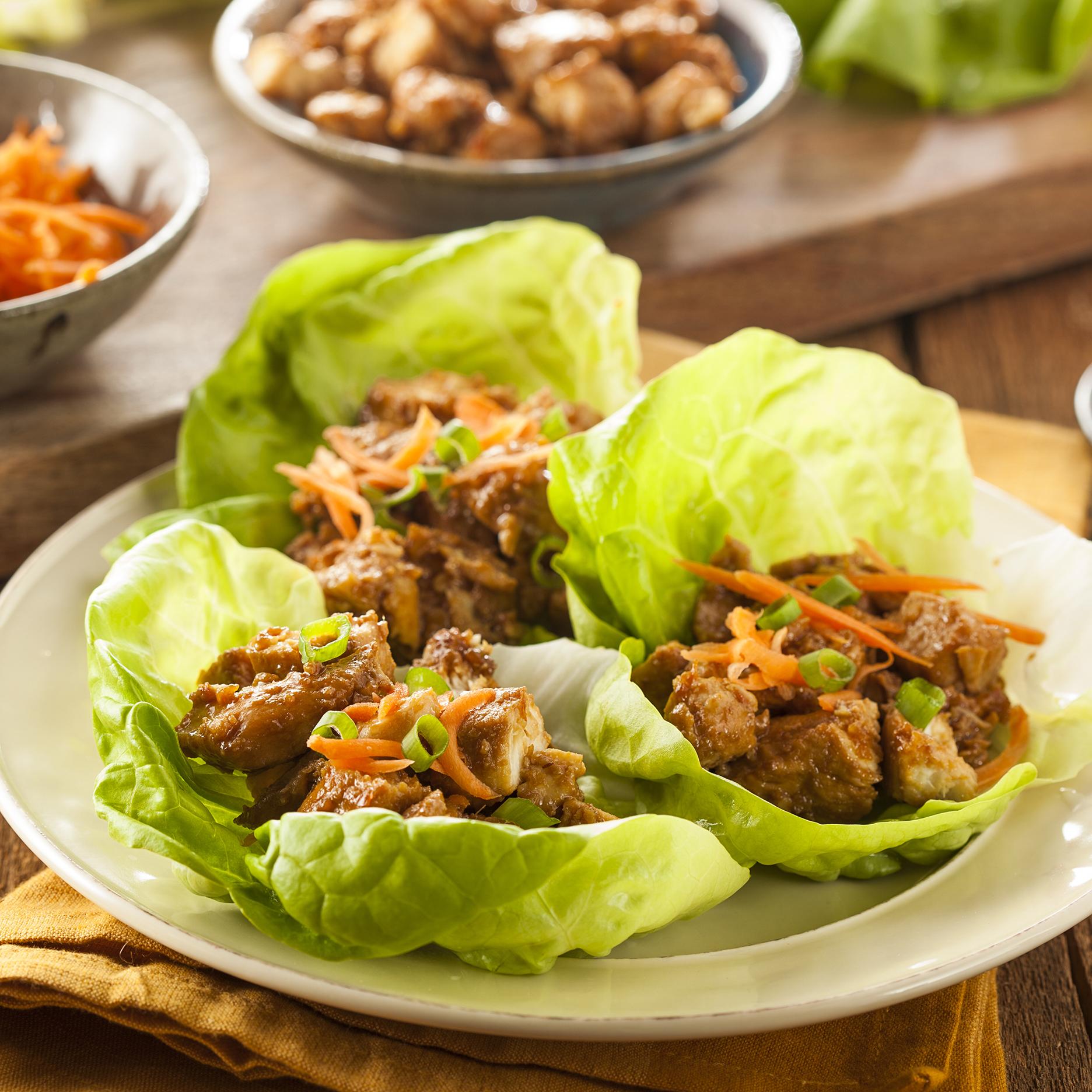 Sichuan Chicken Lettuce Wraps