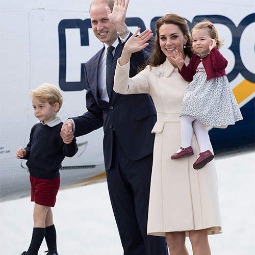 Kate Middleton, Prince William, and their children.
