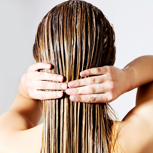 washing hair