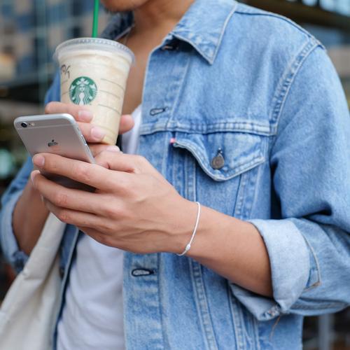 woman drinking Starbucks
