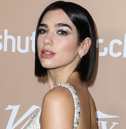 Dua Lipa Picked A Plunging Neck Top To Debut Her New Hair Color-- All We Can Say Is WOW