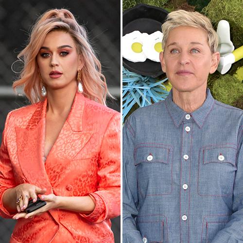 Katy Perry and Ellen DeGeneres