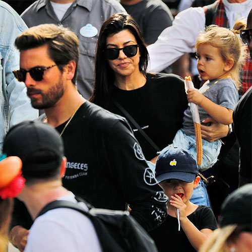 Scott Disick, Kourtney Kardashian, and Reign