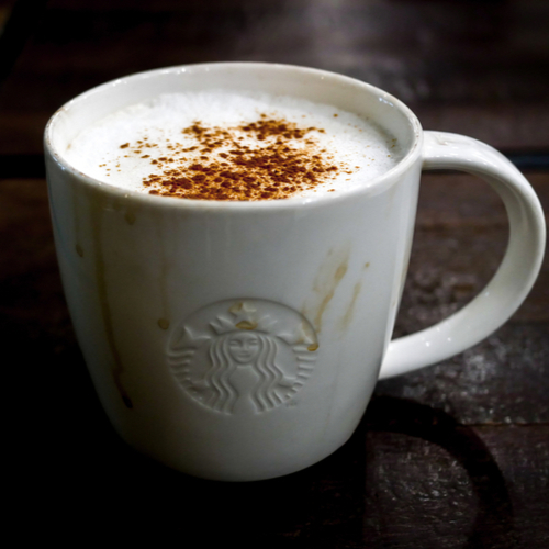 Starbucks coffee with cinnamon