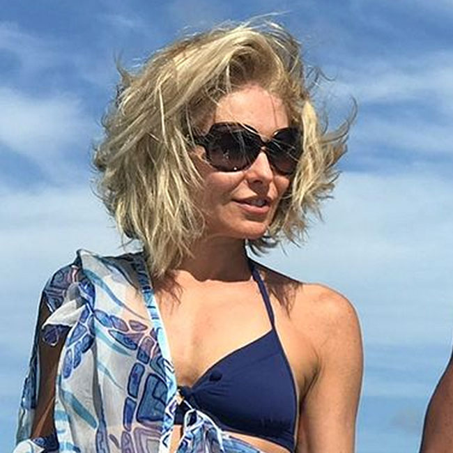 We Can't Believe Kelly Ripa Got Away With Wearing This Skimpy String Bikini— Is She Serious?!