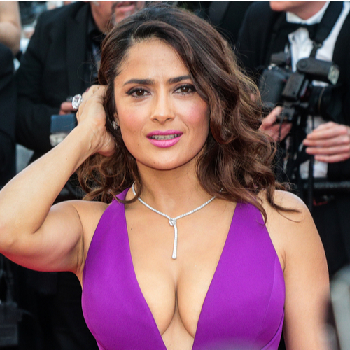 Salma Hayek's Red Gown Has To Be The Sexiest Thing She's EVER Worn On A Red Carpet
