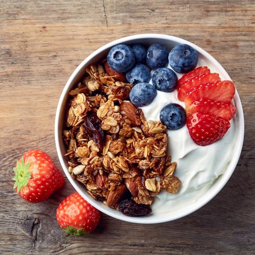 granola and Greek yogurt