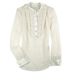 3.1 phillip lim silk tuxedo blouse