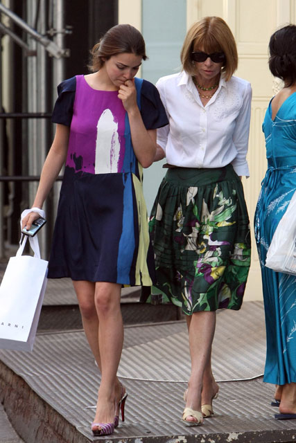 Anna Wintour and Bee Shaeffer