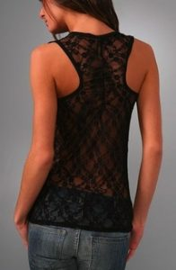 CC lace back tank