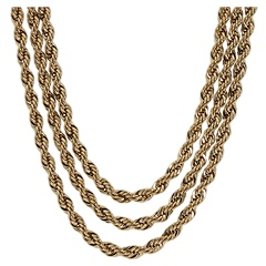 Carolee Necklace Chain Gang Multi Row Bib Adjustable Necklace