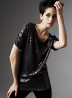 Cascading Sequin Top