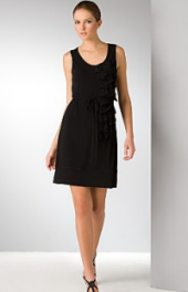 Cascading ruffle dress