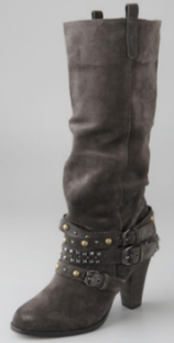Cassie Suede Studded Boots