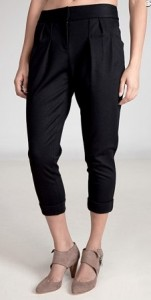 DVF pleated cropped pant