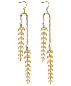 Emily Elizabeth Jewelry Feather Leaf Earrings