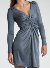Eric Daman for Charlotte Russe Embellished Shoulder Dress