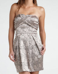 Eric Daman for Charlotte Russe Lace Tube Dress