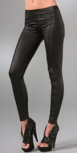 Faux Leather Liquid Leggings