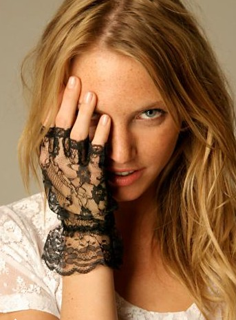 Free People Lace Gloves