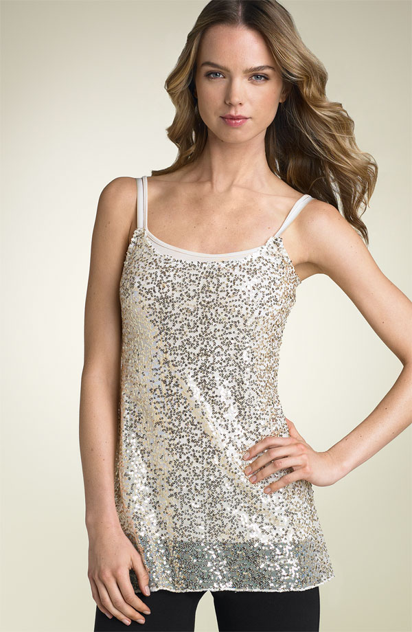 Free People Sequin Slip Tank