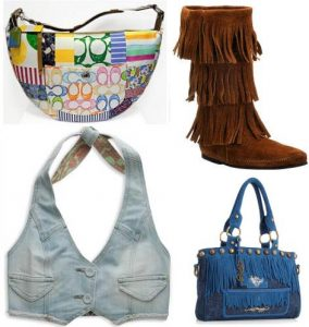 Handbags and Vest collage