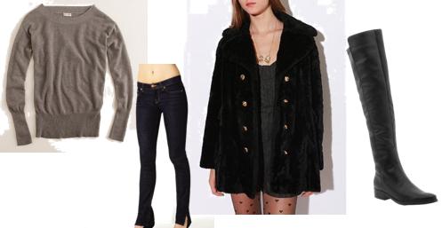 how to wear faux fur coat