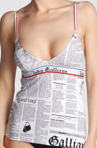 2e3554ec Get Carrie Bradshaw's Famous Galliano Newspaper Dress In Underwear ...