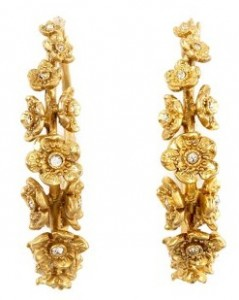 Juicy Couture Floer Hoop Earrings