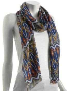 Kashmere blue tribal scarf