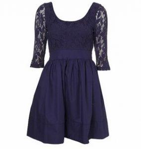 Lace Poplin Dress