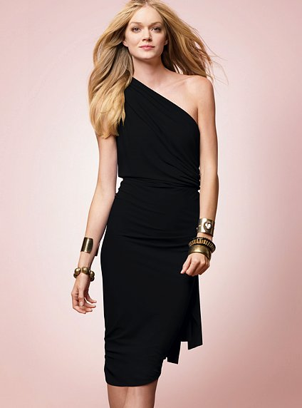 Matte Jersey One-Shoulder Dress