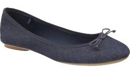 Old Navy Ribbon Trim Ballet Flats
