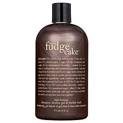 Philosophy Fudge Cake Shampoo Shower Gel Bubble Bath