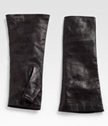 Portolano leather fingerless gloves