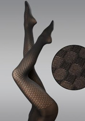 HUE Basketweave control top tights