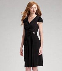 Kay Unger surplice wrap dress