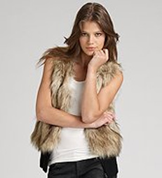 Juicy Couture faux-fur vest