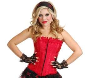 Lacy Red Corset