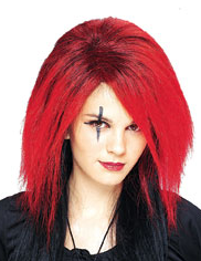 Fire Red Fury Wig